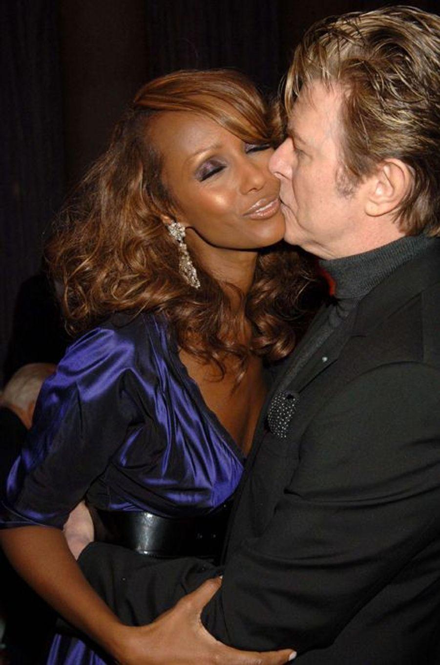 David Bowie et Iman, avril 2006