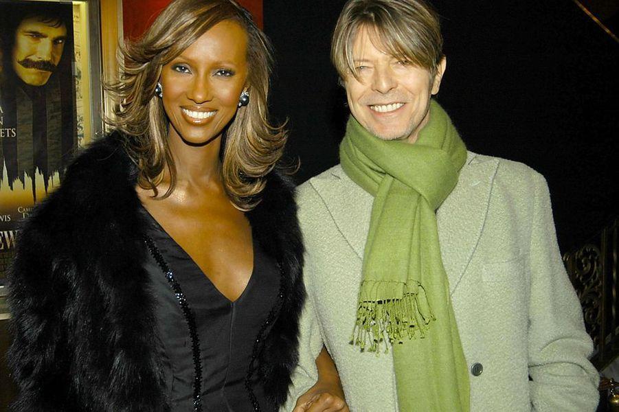 David Bowie et Iman, décembre 2002