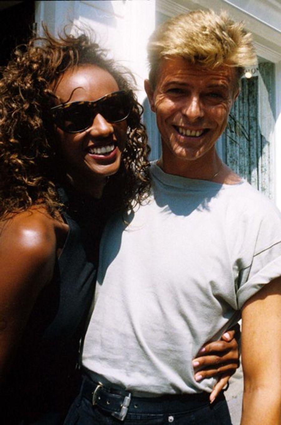 David Bowie et Iman, en 1991