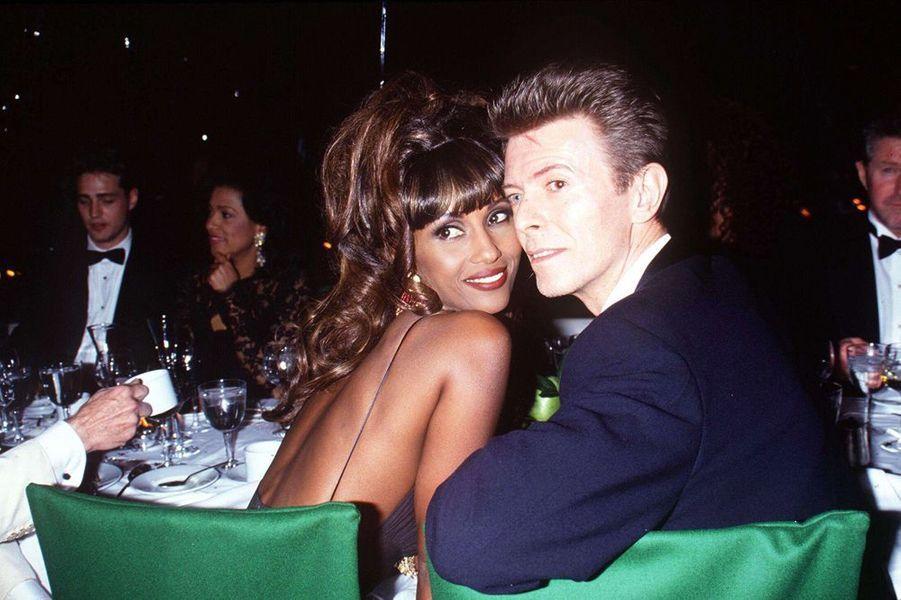 David Bowie et Iman, en 1993