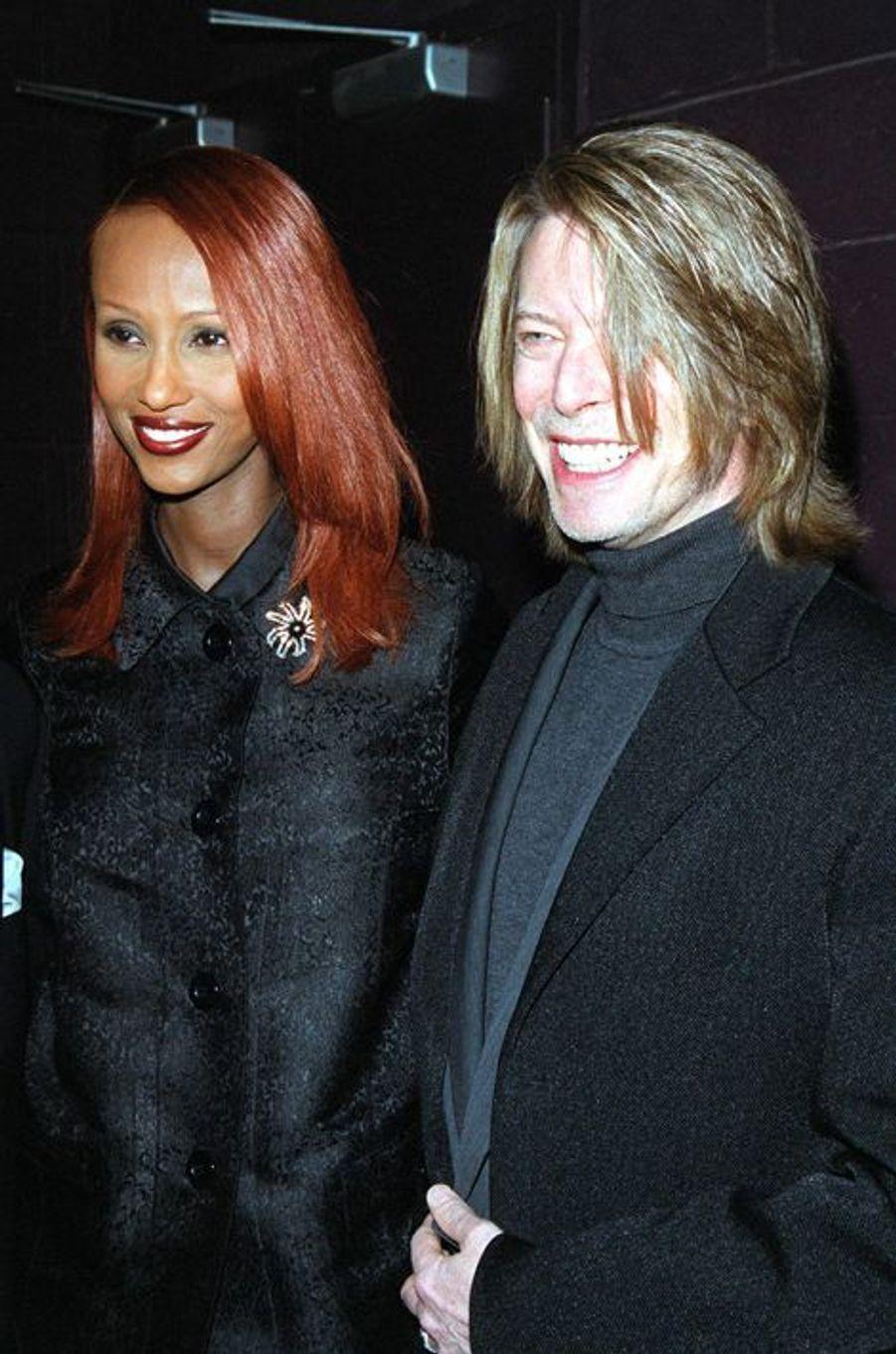 David Bowie et Iman, en 2000