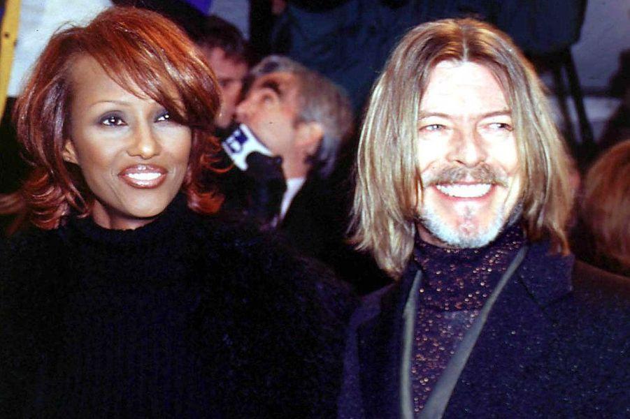 David Bowie et Iman, en janvier 2001