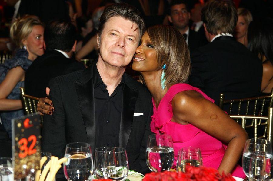 David Bowie et Iman, en janvier 2013