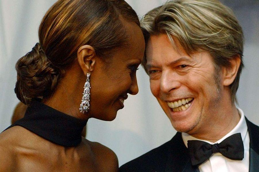 David Bowie et Iman, en juin 2001
