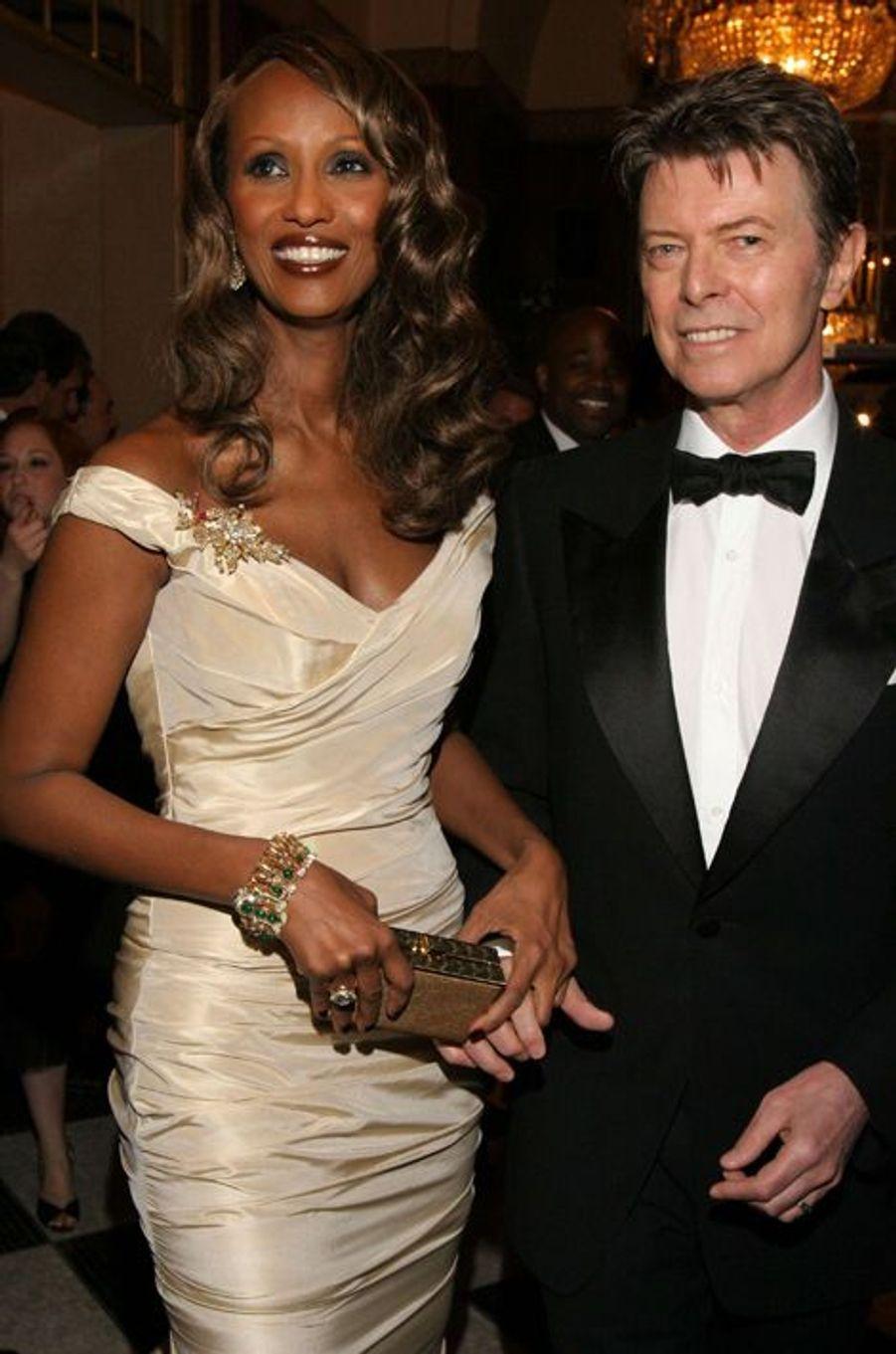 David Bowie et Iman, mai 2007