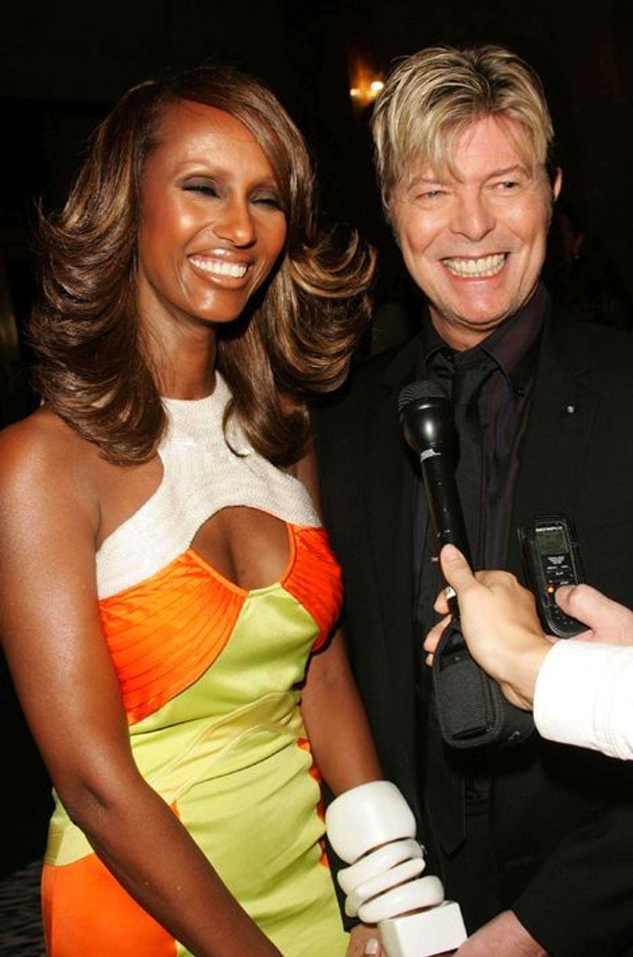 David Bowie et Iman, octobre 2005