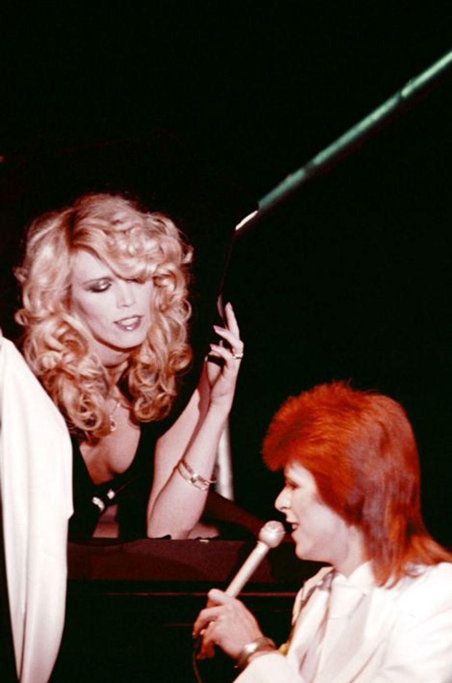 David Bowie et Amanda Lear