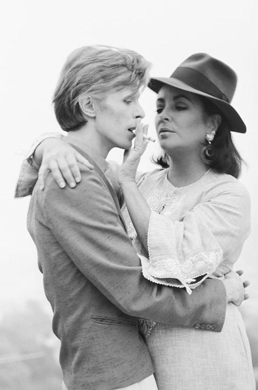 David Bowie et Elisabeth Taylor