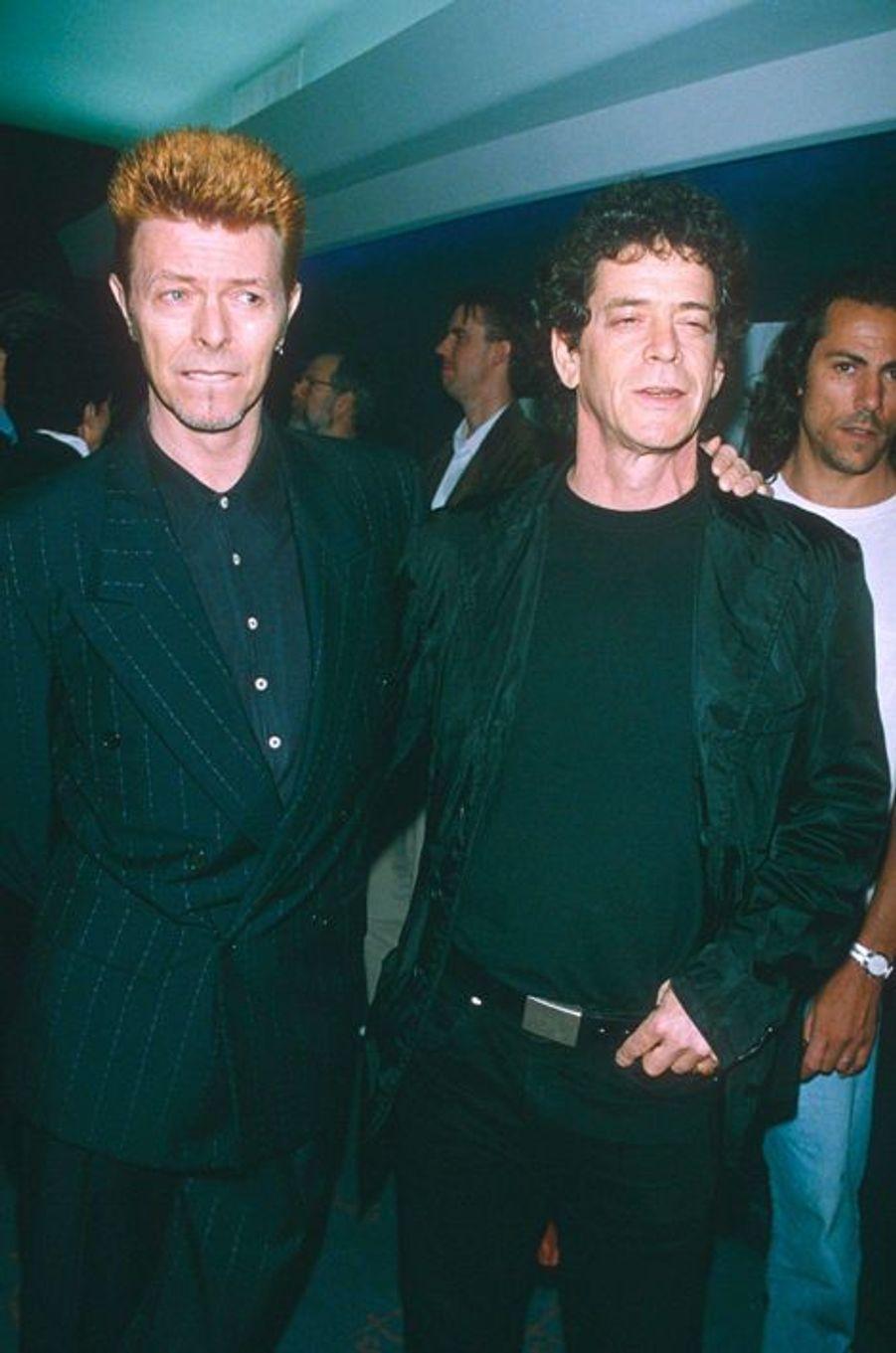 David Bowie et Lou Reed, en 1996