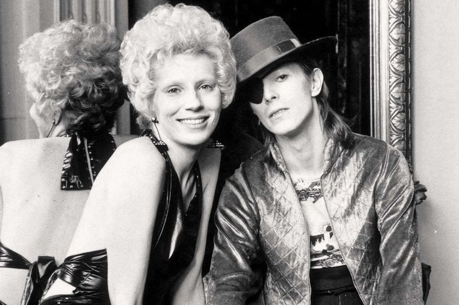 David Bowie et sa première épouse Angie, 1974