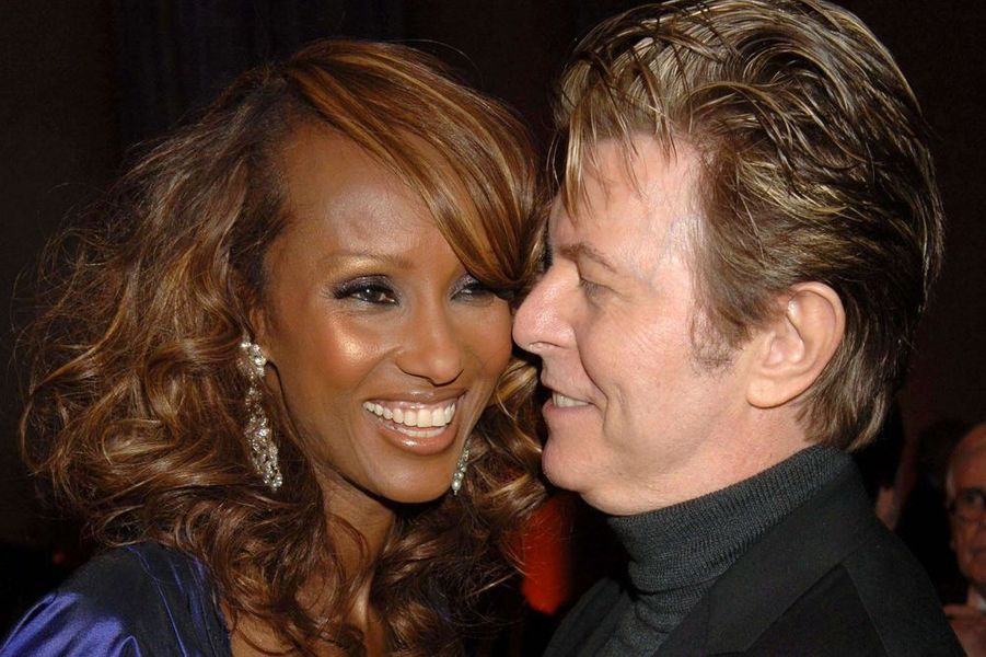 David Bowie et son épouse Iman, à New York, en 2006