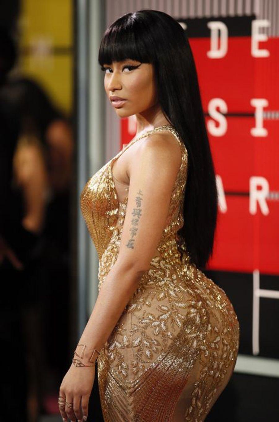 La chanteuse Nicki Minaj arrive aux MTV Video Music Awards 2015 dimanche soir.