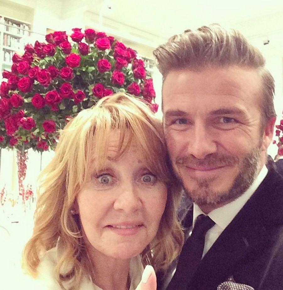 Avec David Beckham
