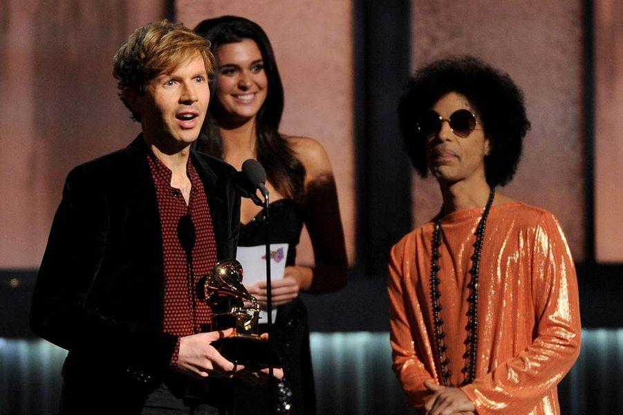 Beck et Prince à Los Angeles le 8 février 2015