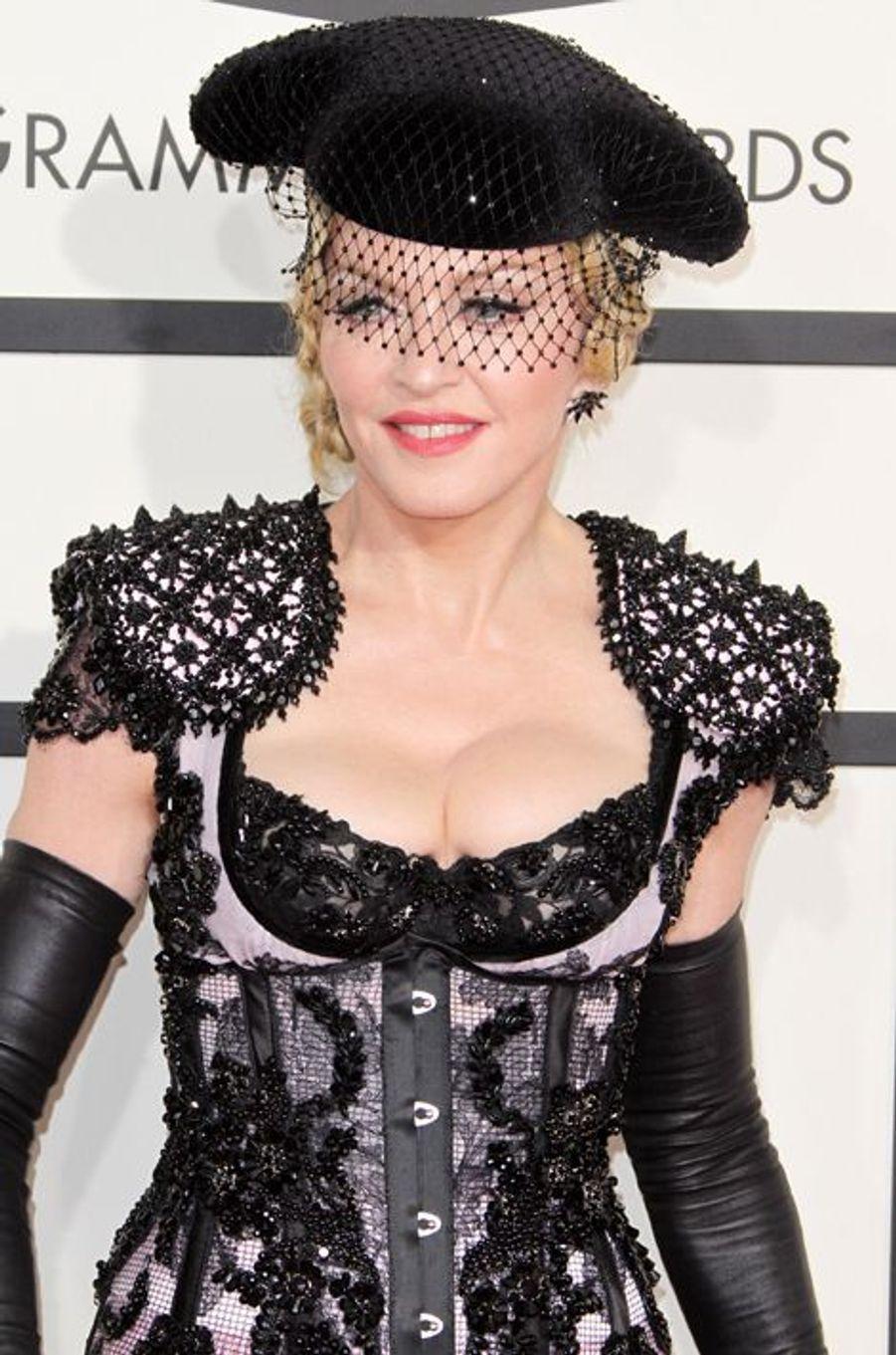 Madonna à Los Angeles le 8 février 2015