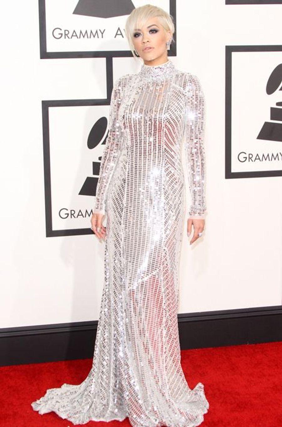 Rita Ora à Los Angeles le 8 février 2015