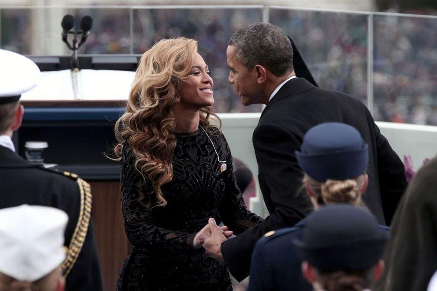 Beyoncé chante pour l'investiture de Barack Obama, le 21 janvier 2013.