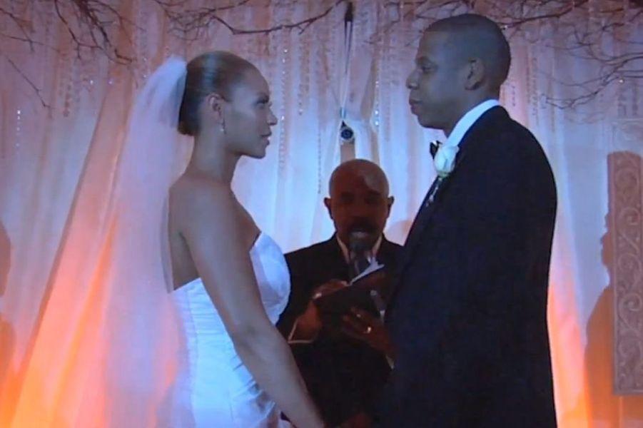 Beyoncé et Jay Z se marient, avril 2008.
