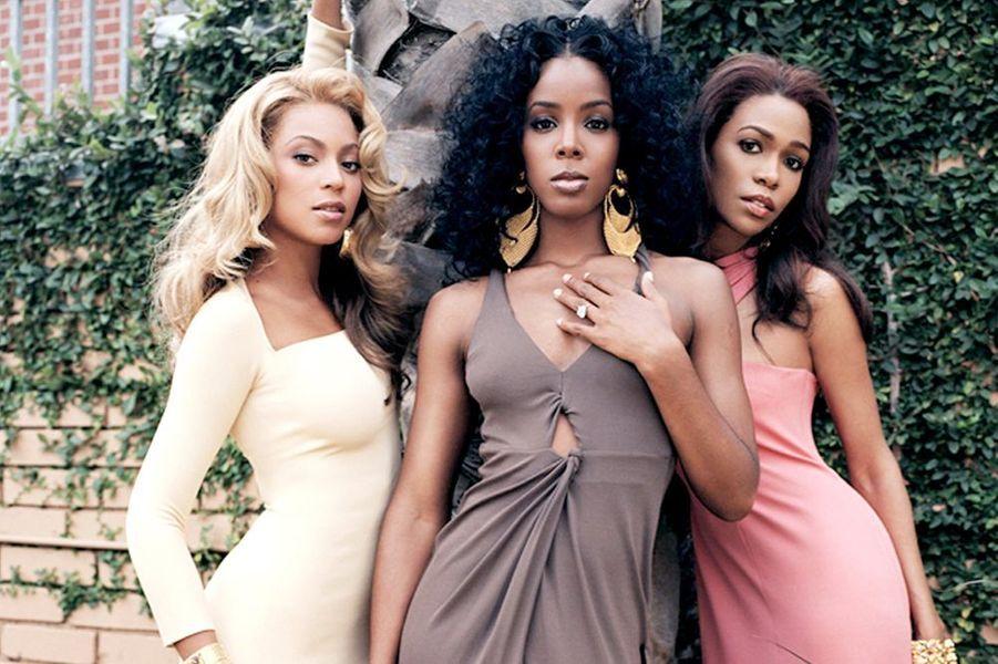 Beyoncé, Michelle et Kelly sur Rodeo Drive, juin 2005.