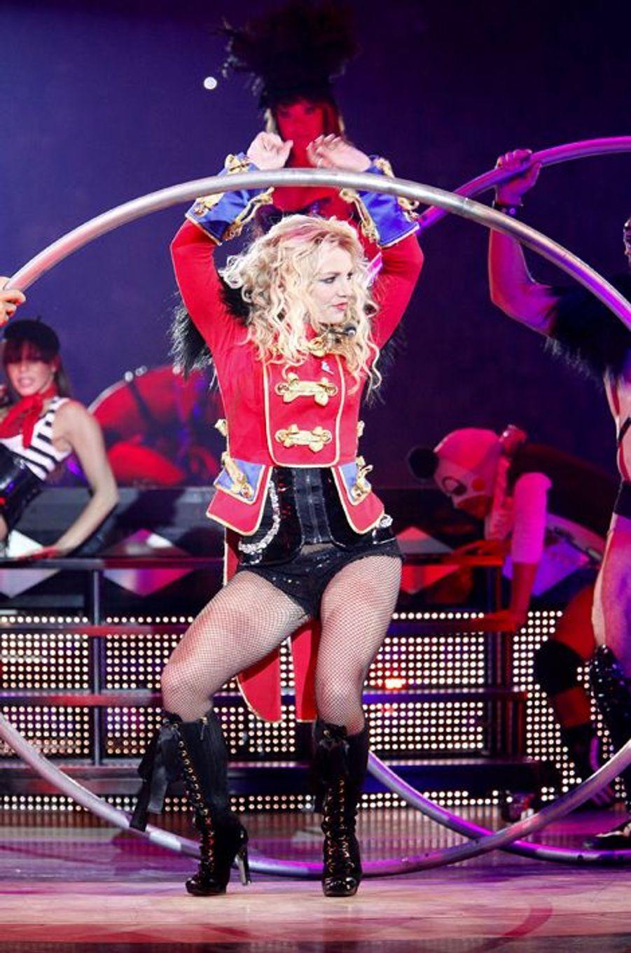 """Britney Spears, lors de la tournée """"Circus Tour"""", à Melbourne, novembre 2009."""