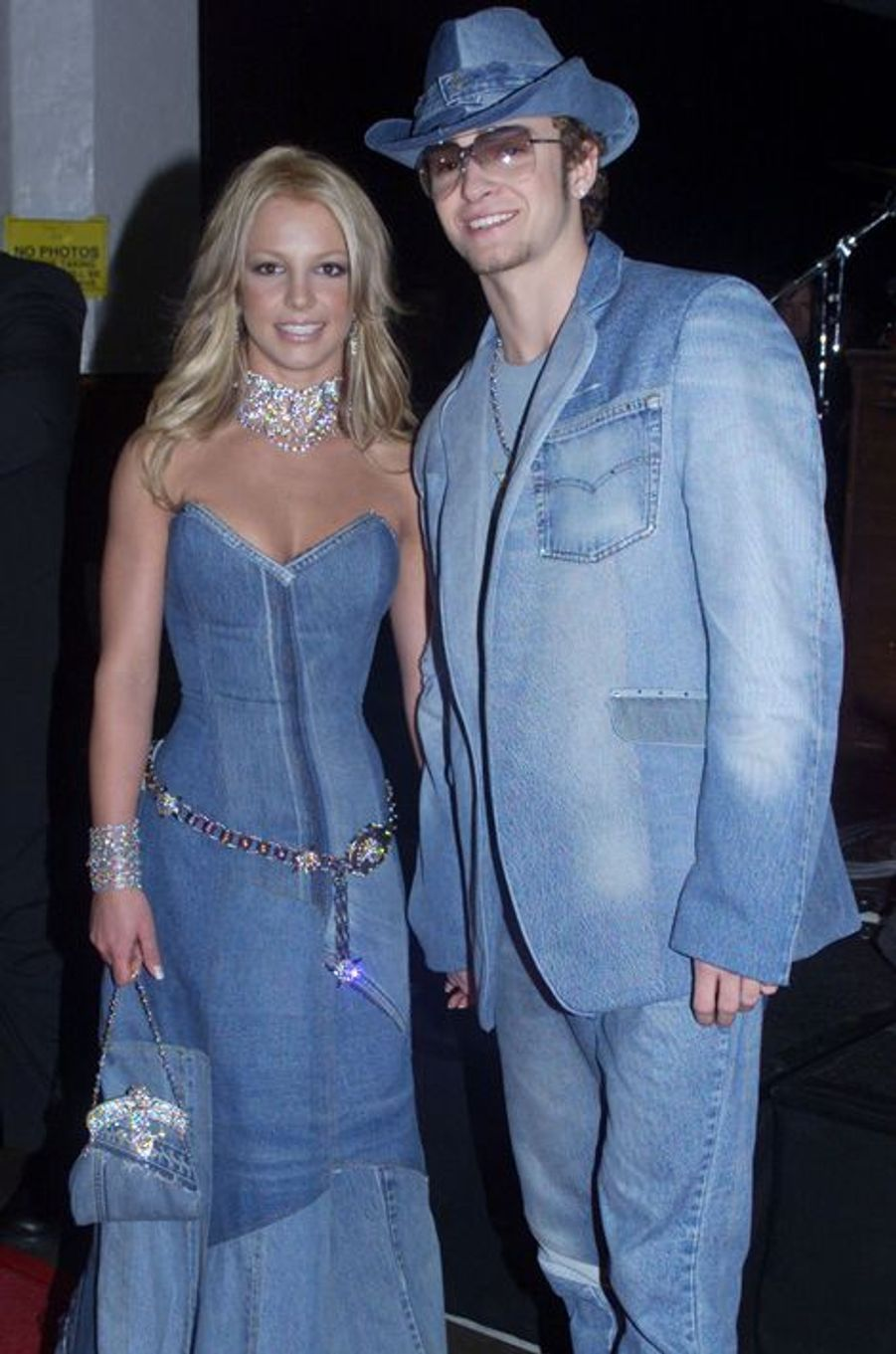 Justin Timberlake et Britney Spears aux American Music Awards, 8 janvier 2001.