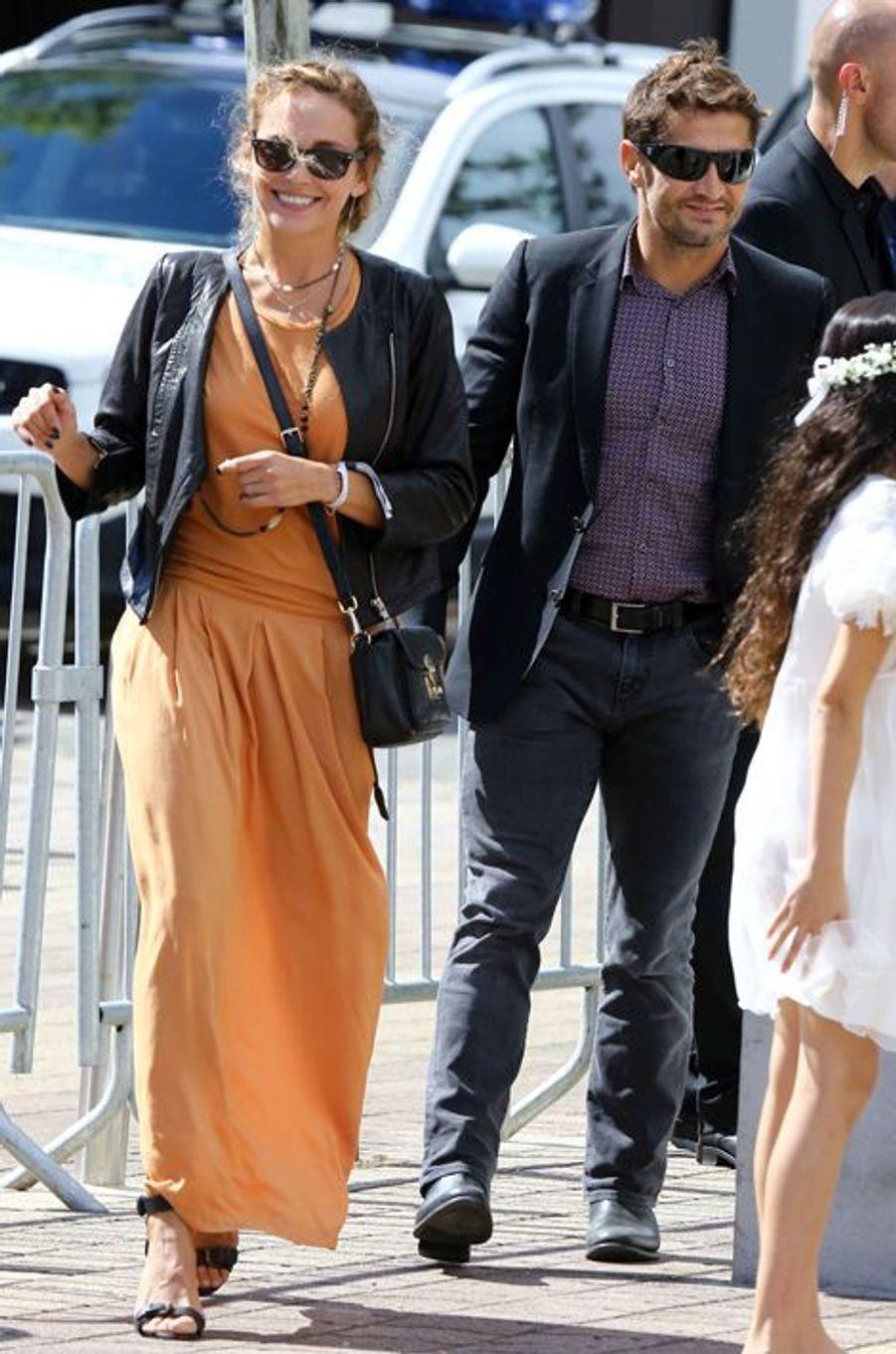Claire Keim et Bixente Lizarazu étaient invités au mariage de Pascal Obispo et Julie Hantson, le 19 septembre 2015.
