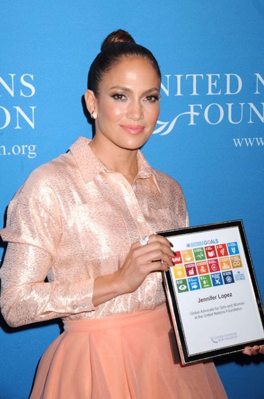 Jennifer Lopez est devenue la première ambassadrice mondiale pour la cause des femmes auprès de la Fondation des Nations Unies vendredi dernier.