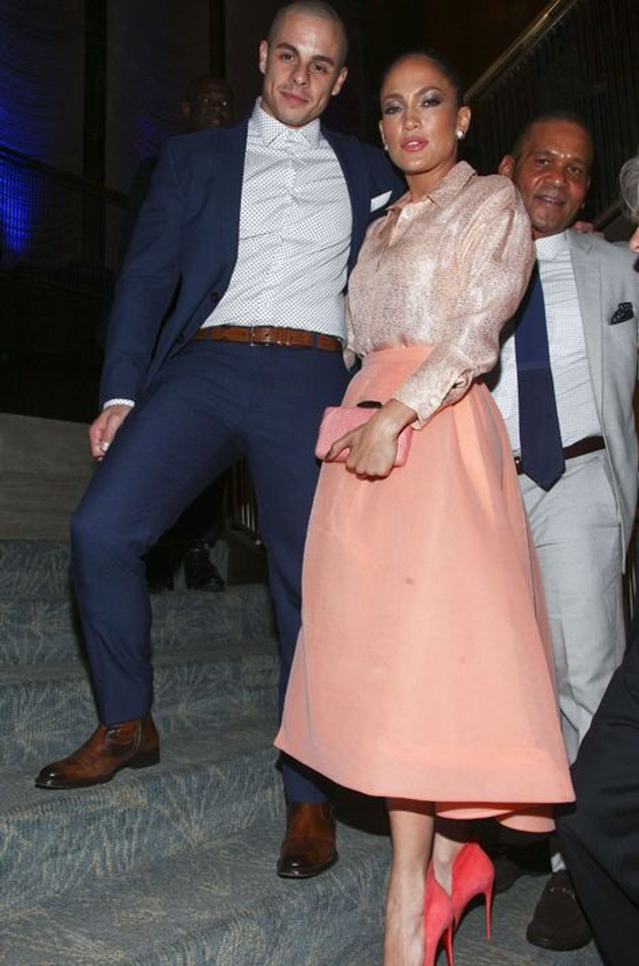 Jennifer Lopez et Casper Smart à la soirée de la Fondation des Nations Unies à l'hôtel Four Seasons de New York vendredi dernier.
