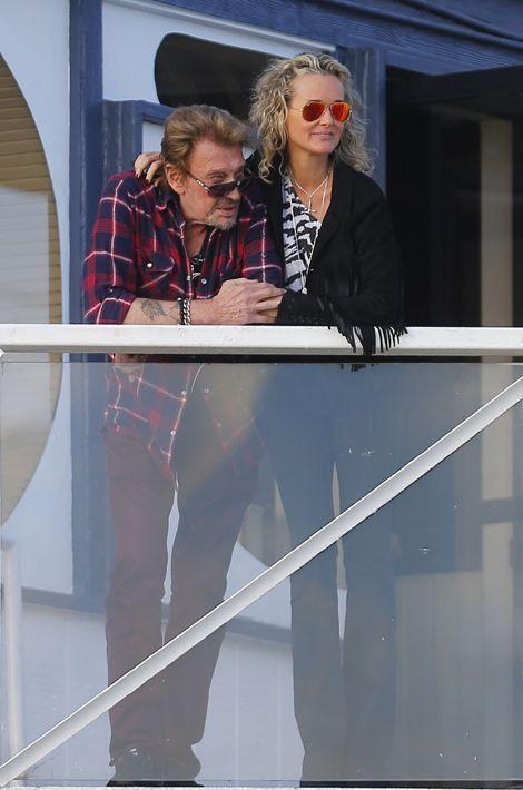Le couple sur un balcon de Malibu, janvier 2014