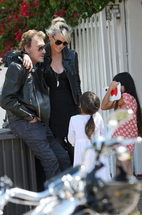 Une journée en famille à Malibu, mai 2014