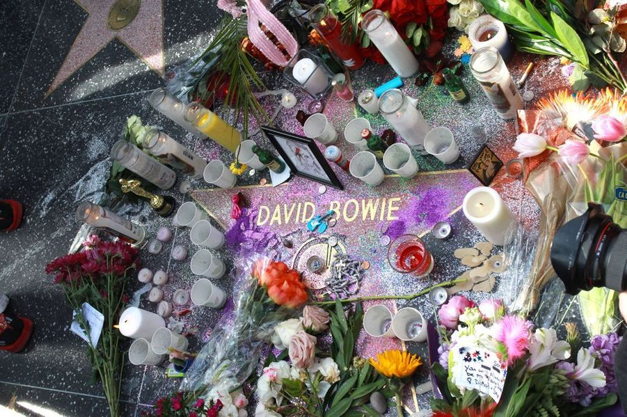 L'étoile de David Bowie sur Hollywood Boulevard, à Los Angeles, le 11 janvier 2016
