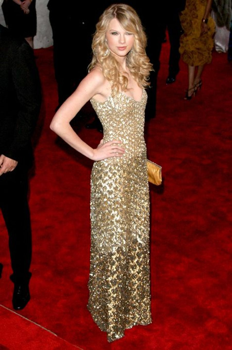 Taylor Swift en Badgley Mischka au gala du Met, en mai 2008