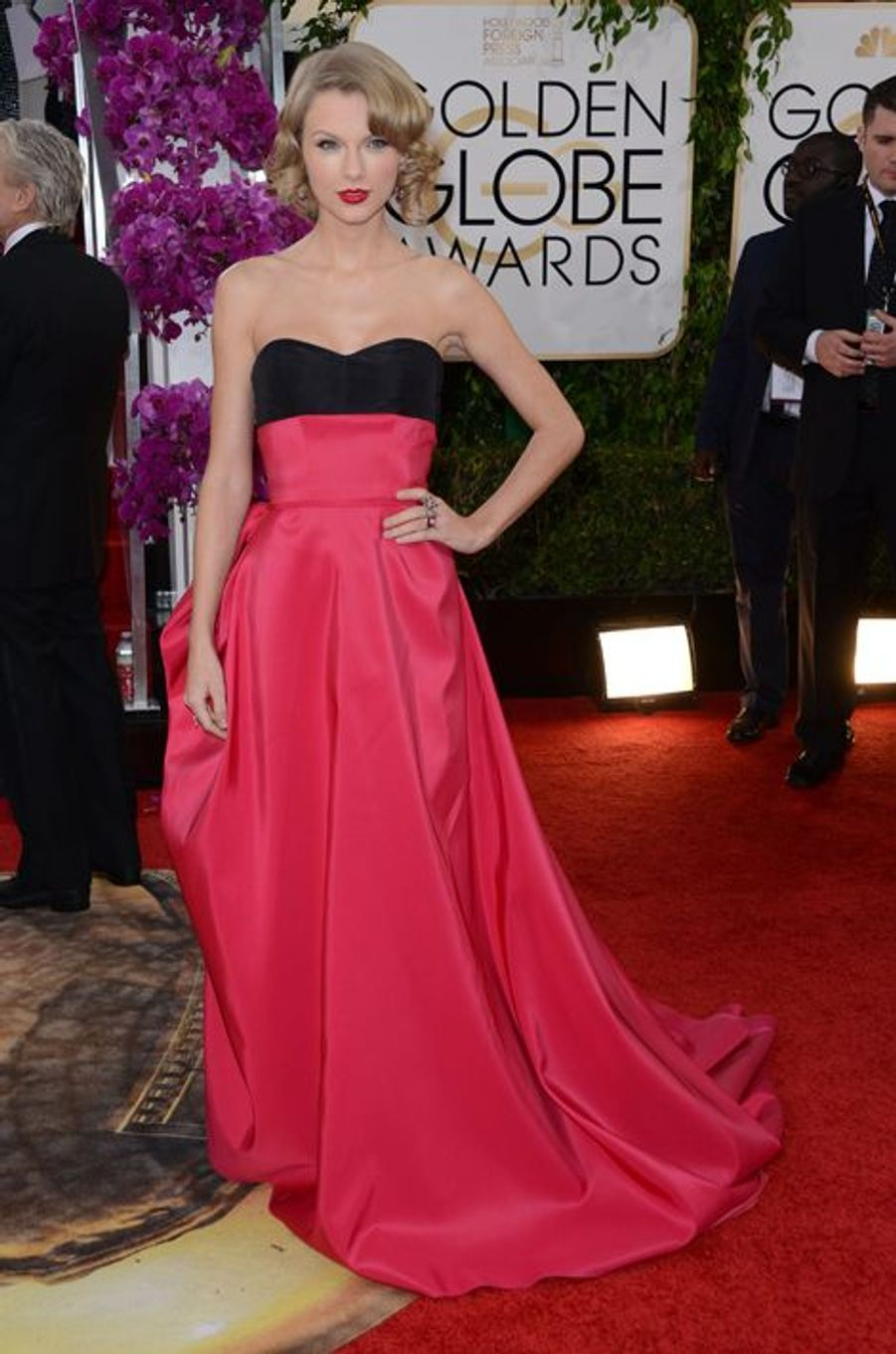 Taylor Swift en Carolina Herrera aux Golden Globes, en janvier 2014