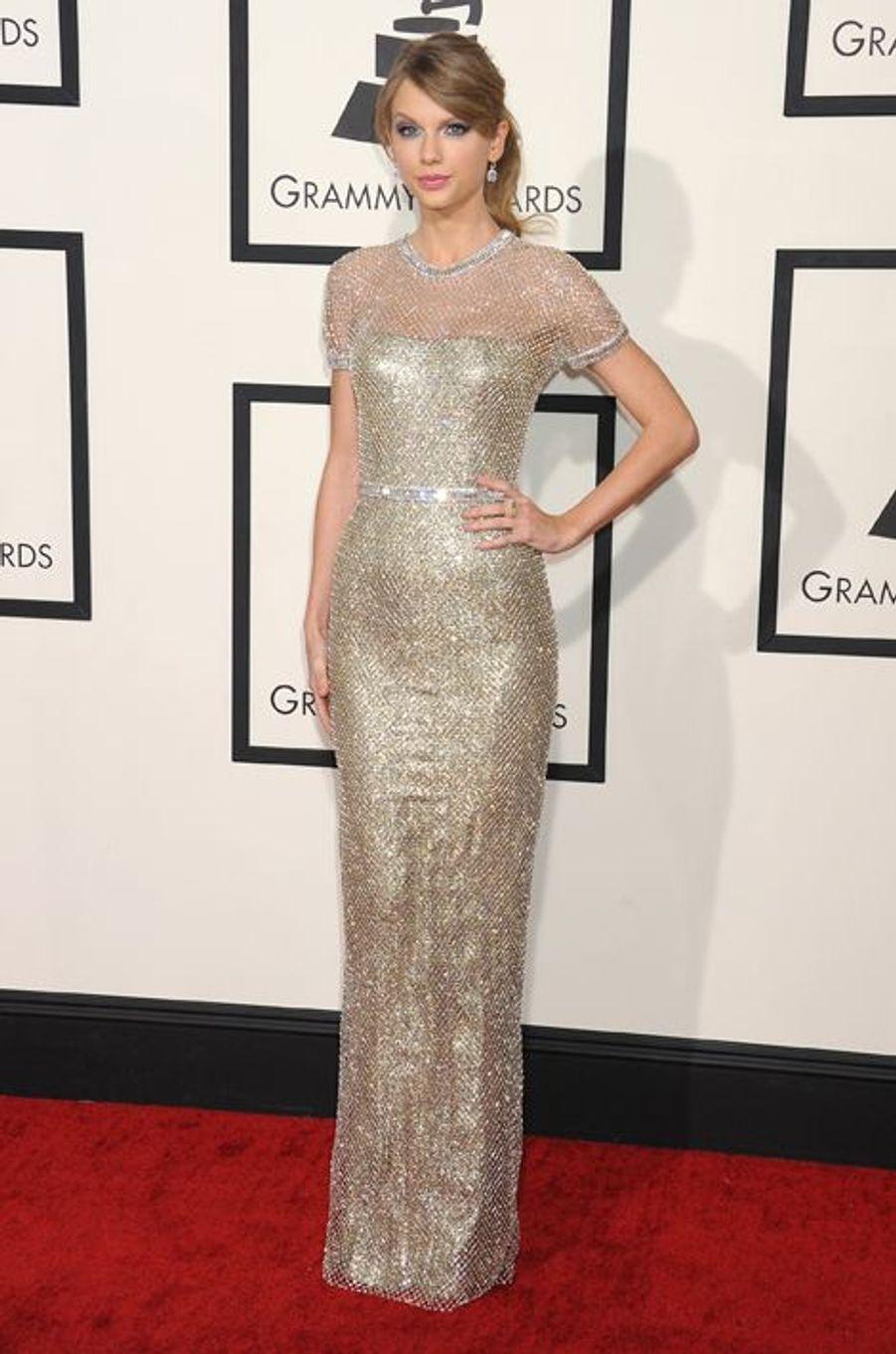 Taylor Swift en Gucci Première aux Grammy Awards, en janvier 2014
