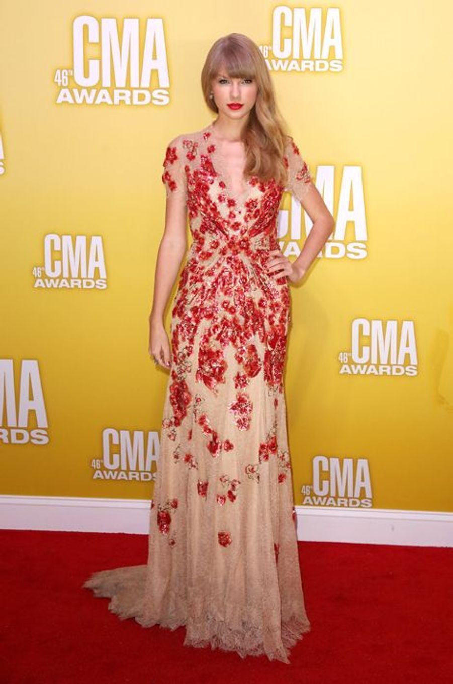 Taylor Swift en Jenny Packham aux Country Music Awards, en novembre 2012