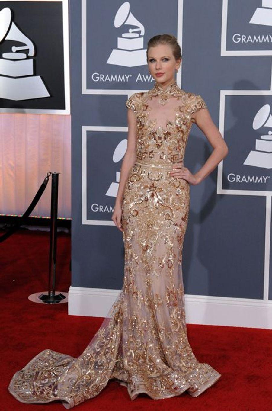 Taylor Swift en Zuhair Murad Couture aux Grammy Awards, en février 2012