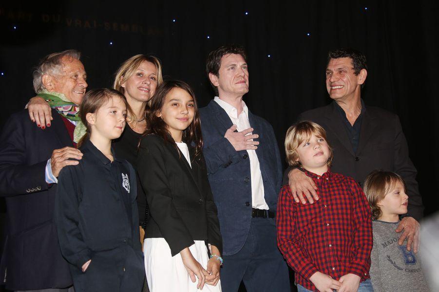 Marc Lavoine en famille à Paris le 1er février 2016