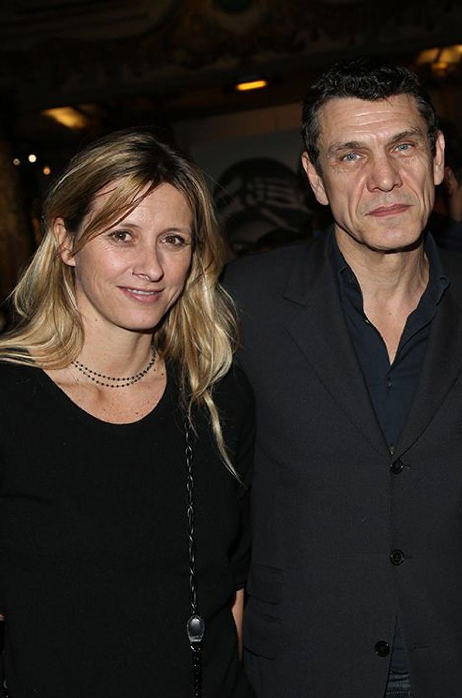 Sarah et Marc Lavoine à Paris le 1er février 2016