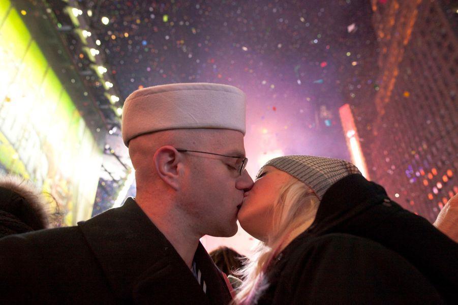 Un baiser de nouvelle année