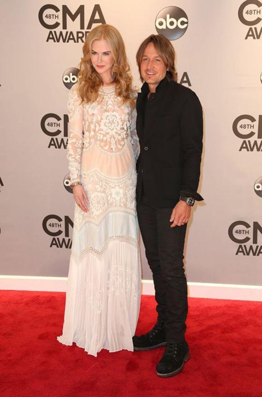 Nicole Kidman et Keith Urban à Nashville le 5 novembre 2014