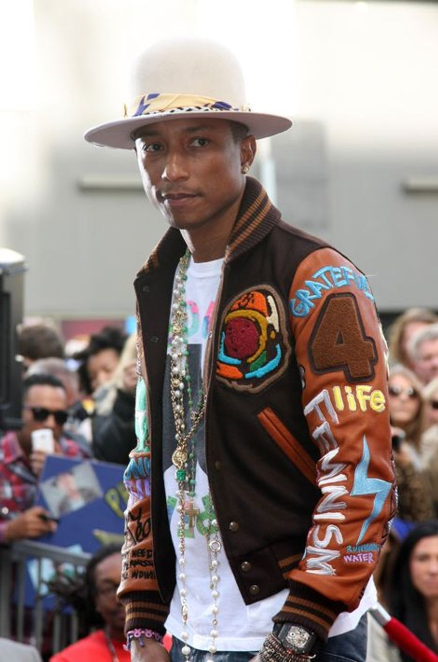 Pharrell Williams à Los Angeles le 4 décembre 2014
