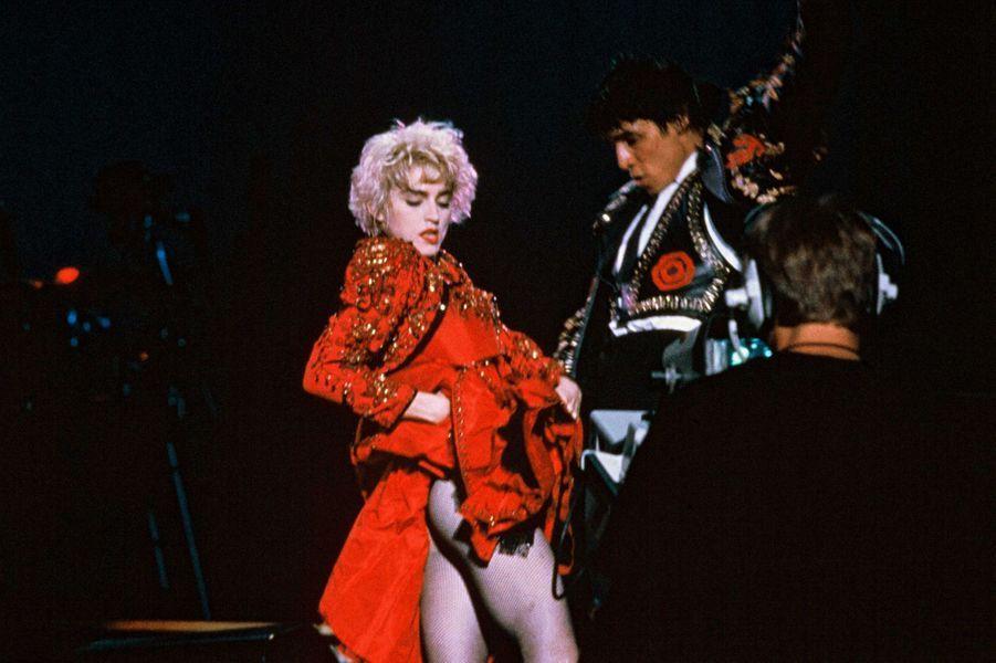 Madonna lors du concert au parc de Sceaux le 29 août 1987