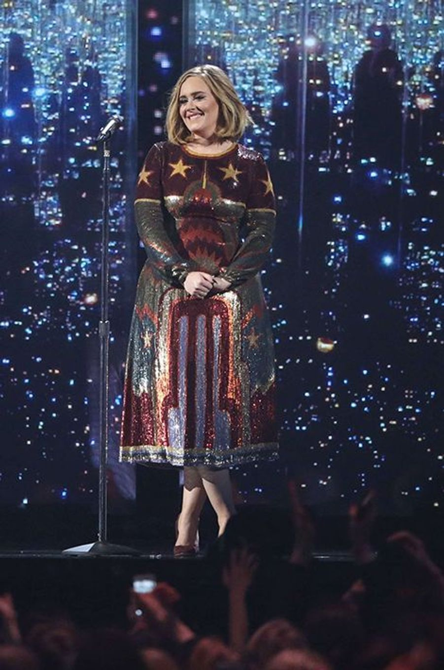 Adele aux Brit Awards 2016