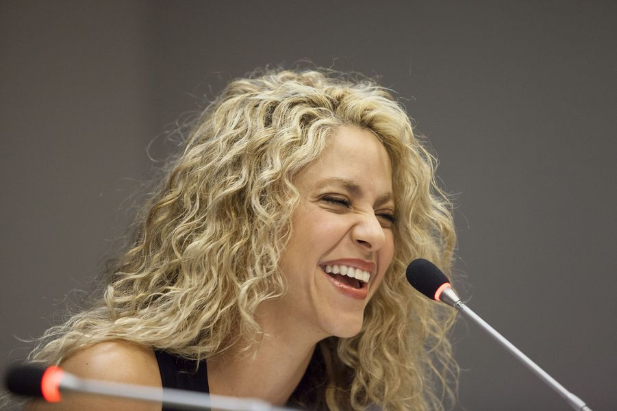 Shakira à New York le 22 septembre 2015