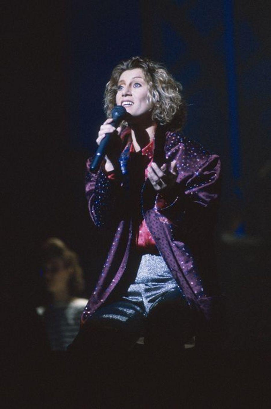 En concert au Zénith de Paris en 1985