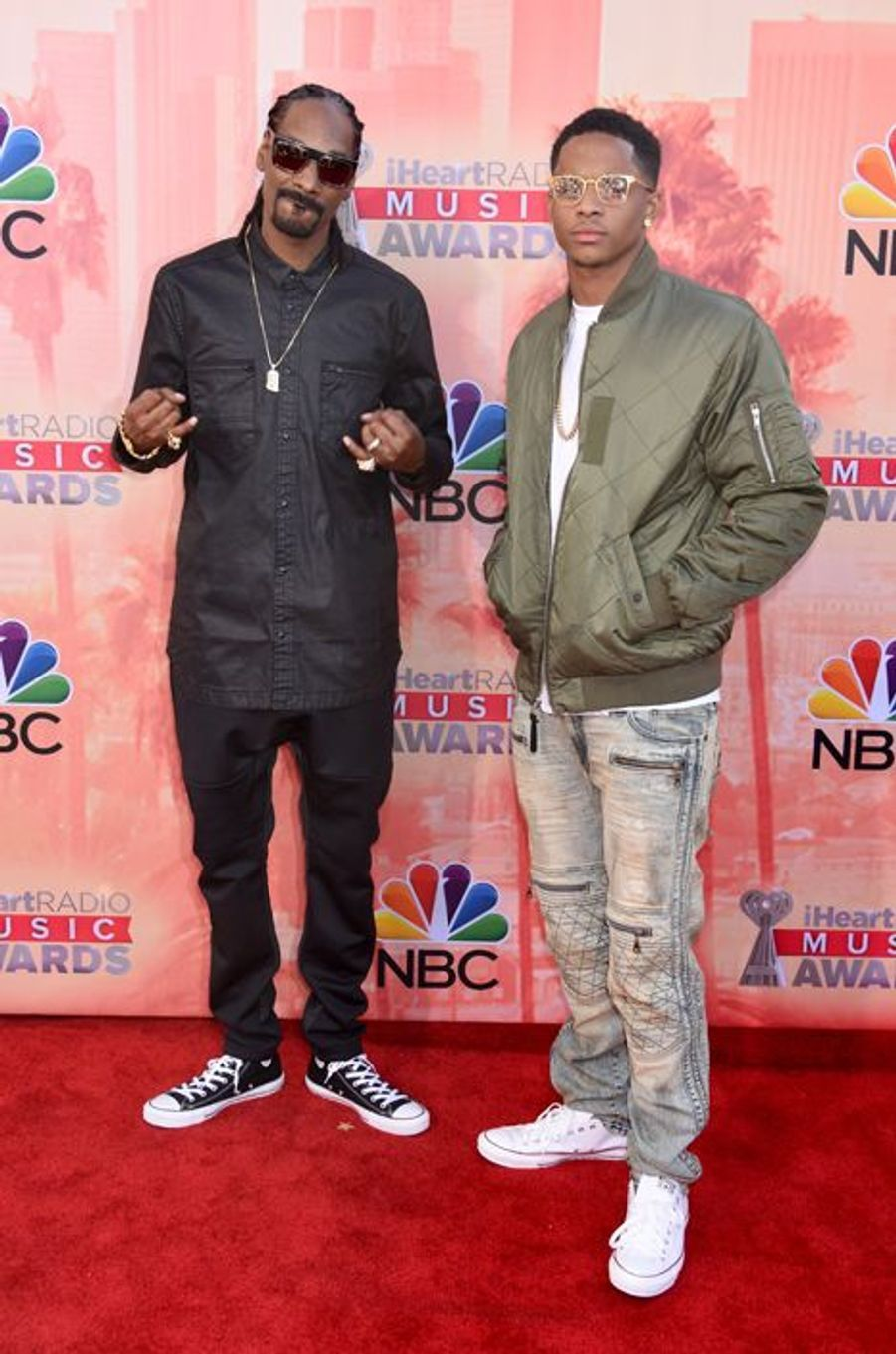 Snoop Dogg et son fils aîné, Cordell Broadus, à Los Angeles le 29 mars 2015