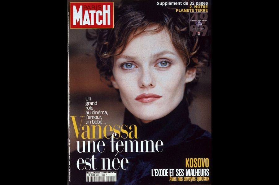 Vanessa Paradis en couverture de Paris Match en avril 1999