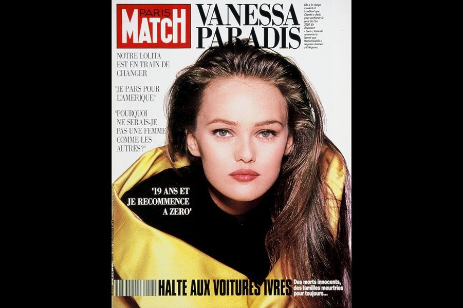 Vanessa Paradis en couverture de Paris Match en octobre 1991