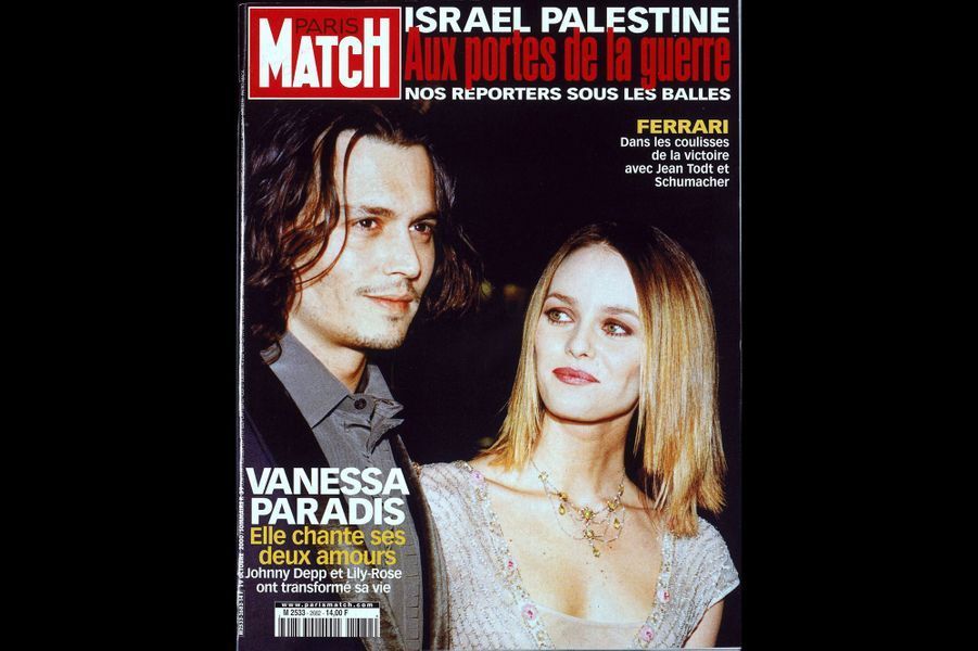 Vanessa Paradis en couverture de Paris Match en octobre 2000