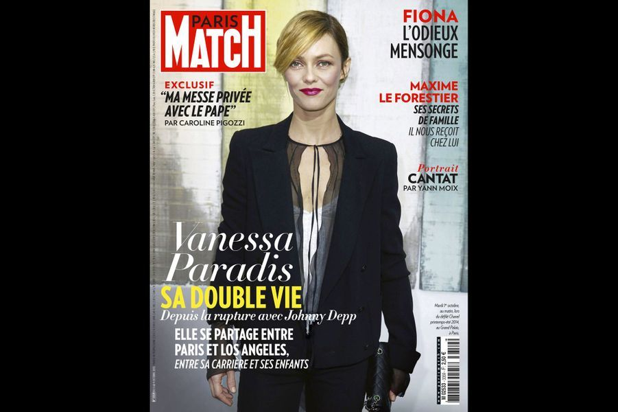 Vanessa Paradis en couverture de Paris Match en octobre 2013